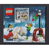 Juguete Lego 2014 Vacaciones De Invierno Escena Del Patinaj