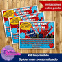 Kit Imprimible Spiderman Hombre Araña Personalizado
