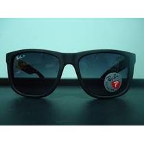 Óculos Ray Ban Justin 4165 Lentes Polarizadas Preto