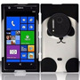 Estuche Panda Silver & Negro Para At&t Nokia Lumia 1020