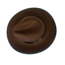 Sombrero Ala Ancha Cafe Vintage Estilo Indiana Jones
