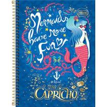 Caderno 12 Matérias 240 Folhas Capricho Azul Tilibra