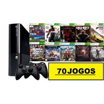 Xbox 360 500gb+70 Jogos Originais+2 Controles+ Nf+ Pes2017