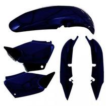 Kit Plástico Carenagem P/ Honda Titan Cg 125 Ano 2002 - Azul