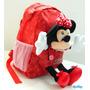 Mochila Minnie Mouse 12 Con Muñeco De Peluche Jardin Sipi
