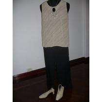 Conjunto De Musculosa Básica Y Pantalón Negro. Impecable!