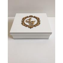 Caixa Personalizada Com Nome Dos Padrinhos Casamento Em Mdf