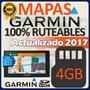 Memoria Microsd Sd 4gb Con Mapas Garmin 2017 100% Ruteables