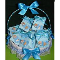 Cesta 24 Cajas Varon Recuerditos Baby Shower Nacimiento Bebe