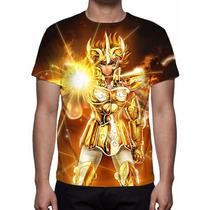Camisa, Camiseta Cavaleiros Do Zodíaco Aioria De Leão