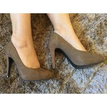 Sapato, Scarpin Salto Alto Bege Número 36, Bottero Passione