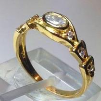 Anillo De Oro 18 K. Con Circones