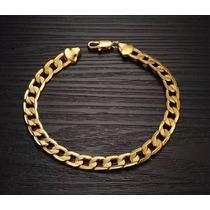 Bracelete Masculino Banhada A Ouro 18k Dourado Ostentação