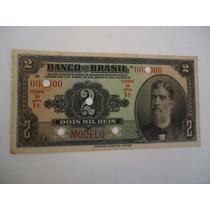 Cédula Modelo De 2 Mil Reis (banco Do Brasil)