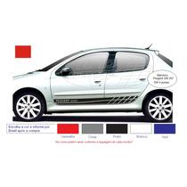 Adesivos Peugeot 206 207 Sw 2 4 P Faixa Lateral Acessórios