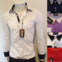 Camisa Social Slim Fit De Luxo Zafferano Masculina Italiana