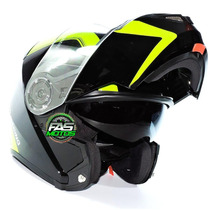 Casco Rebatible Doble V Can V270 Visor Black Spline Fluo Fas