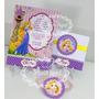 Convite Aniversário Rapunzel 10 Unidades