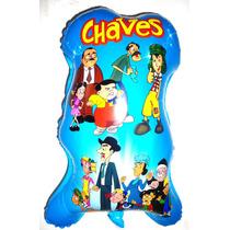 Balão Metalizado Turma Do Chaves - Kit C/ 10 Balões