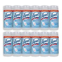 12 Pack Toallitas Desinfectantes Crisp Linen 35 Pzs Lysol