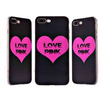Estuche Iphone 7 Plus Amor Rosado Elegante Rosas Fuertes Jet