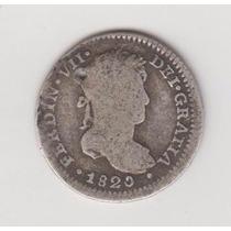 Peru Moneda 1 Real Plata 1820 España Colonial