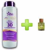 Magic Color 3d Gloss Matizador Platinum Branco+oléo De Argan