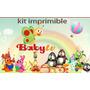 Kit Imprimible Baby Tv Candy Bar Cotillon Tarjetas Cumple