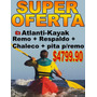 Atlanti Kayak K1 + Chaleco, Remo, Pita Para Remo Y Respaldo