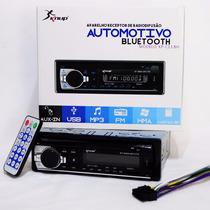 Receiver Radio Carro Fm Mp3 Bluetooth Sd Pendrive Usb