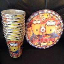 Minions 10 Vasos O Platos Artículos De Fiesta