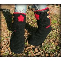 Botas Tejidas A Crochet. Con Suela!