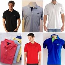 Kit 6 Camisa Camiseta Polo Nike, Lacoste, Tommy Cores