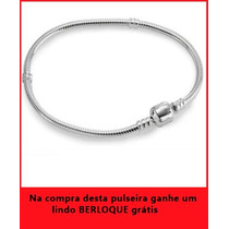 Bracelete Pulseira Vivara + Berloque Grátis Em Ouro Branco