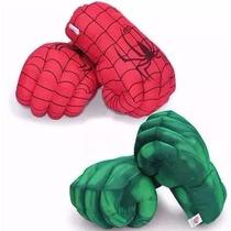 Luvas Incrivel Hulk Ou Homem Aranha Par Punho Mãos Espuma