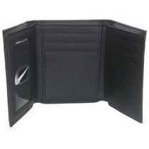 Piel Tri-fold Cartera Nike Golf Varonil, Negro-