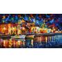 Painel Foto Impressão 80x145cm Obra Leonid Afremov Arte #5