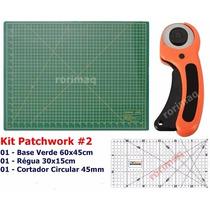 Kit Base De Corte + Régua + Cortador Patchwork Scrapbook #2