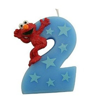 Sesame Street Elmo Número 2 Pastel De Cumpleaños Vela