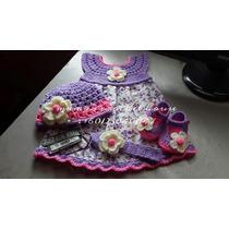 Hermosos Vestidos Para Niñas De O A 6 Tejidos En Crochet .