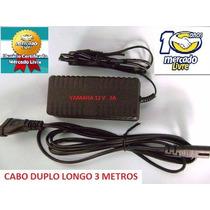 Fonte Teclado Yamaha Psr E233 E333 E433 Cabo Longo 3 Mts