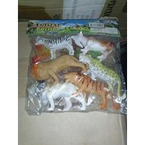 Set De Animales Plasticos 6 Piezas Con Accesorios
