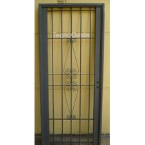 Puerta Reja Hierro Exterior Seguridad Colony 80x200 C/marco
