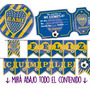 Kit Imprimible Boca Juniors Cumple Candy Bar Invitaciones