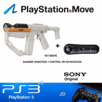 Kit Move Ps3 Sharp Shooter + Mando Navega Nuevo Sony Sellado