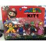 Bonecos Super Mario Collection Kit/com 4personagens 4modelos