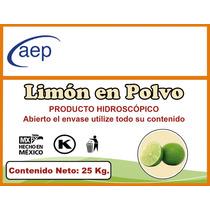 Limón En Polvo Deshidratado Bulto De 25 Kg.