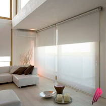 Cortinas Roller Doble Screen 5% Mediterraneo + Blackout