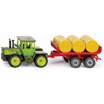 Siku Tractor Remolque Rollo Paja Diecast 1/72 / No Hotwheels