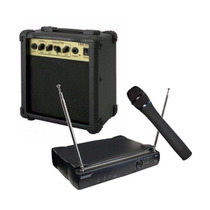 Combo Karaoke Amplificador + Micrófono Inalambrico Vocal Vhf